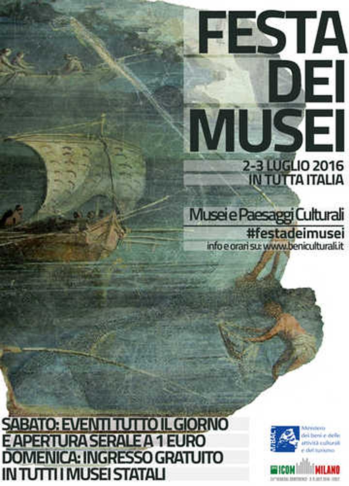 2/3 Luglio 2016: Festa dei Musei