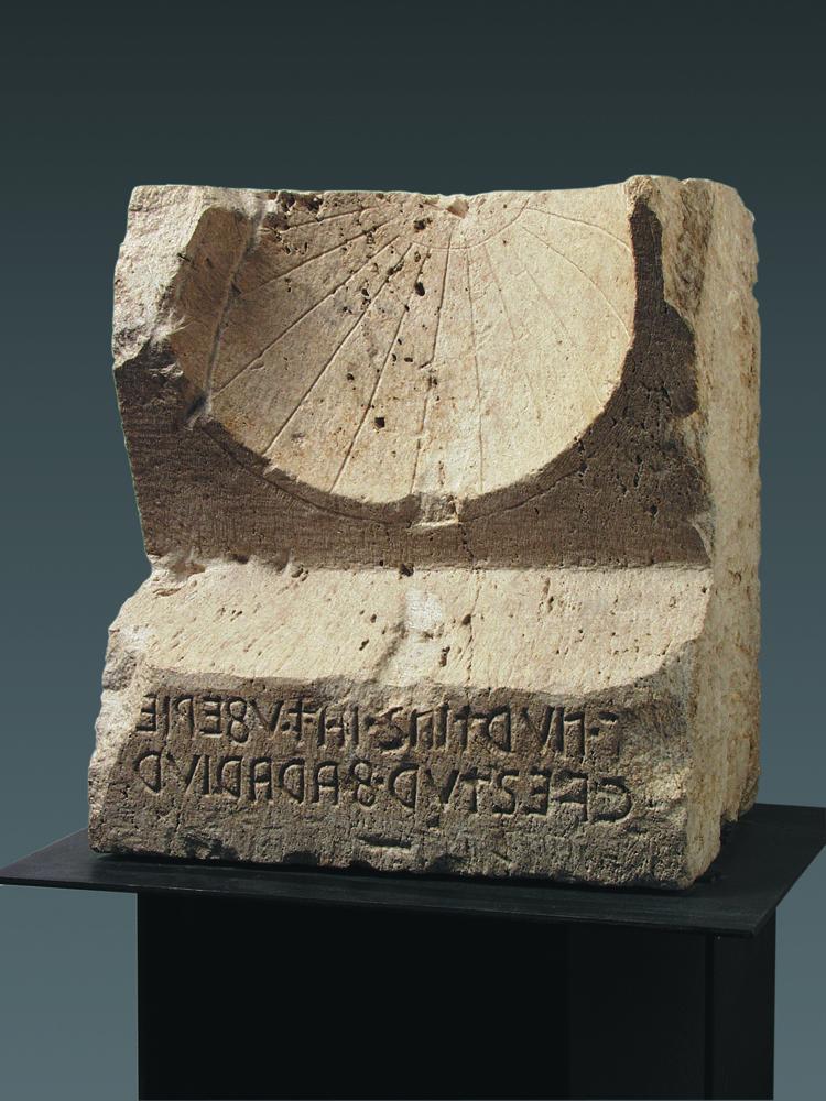 Bevagna. Meridiana con iscrizione umbra