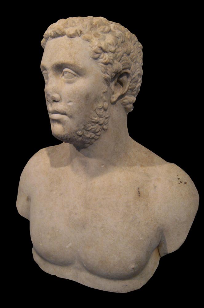 Busto di Geta da Campo della Fiera. II sec. d.C.