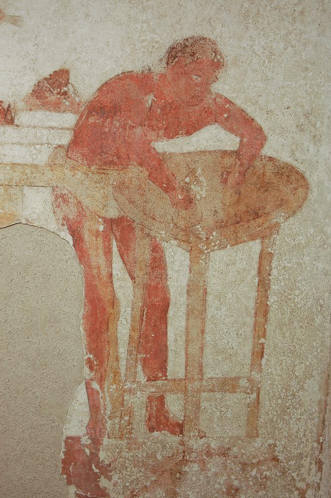 Pittura murale da tomba Golini. IV sec. a.C.